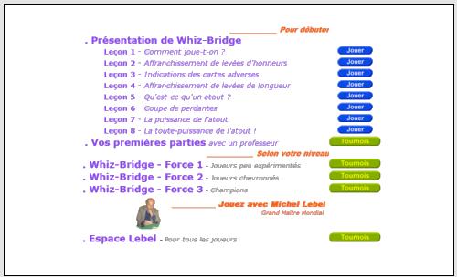 salle de jeu whiz-bridge